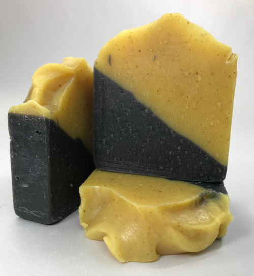 Lemongrass with Activated Charcoal Soap - 4.5oz Bar (+-.5oz)
