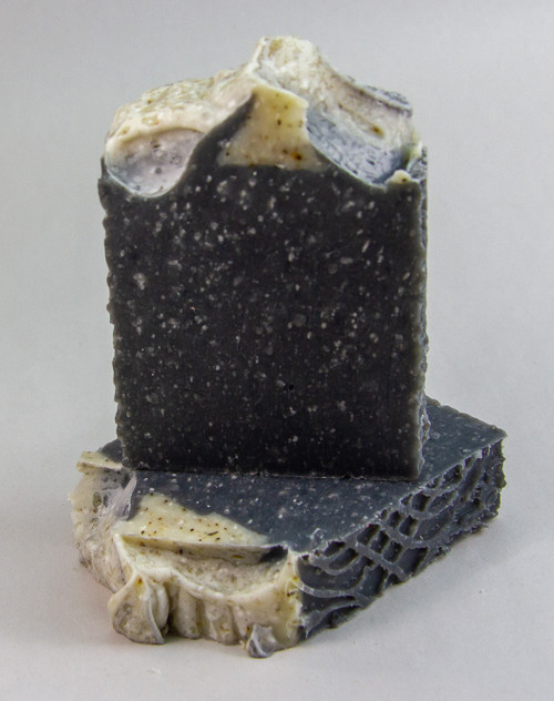 Peppermint Activated Charcoal with Dead Sea Salt and Pumice Soap (EO)  - 4.5oz Bar (+-.5oz)