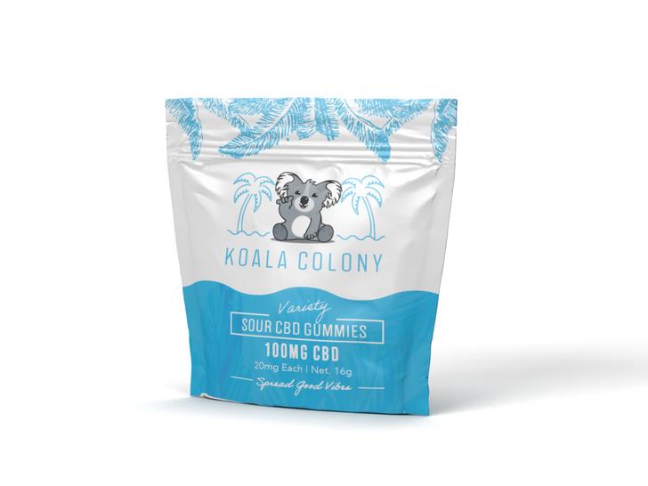 100mg Sour CBD Gummy Bears – Variety