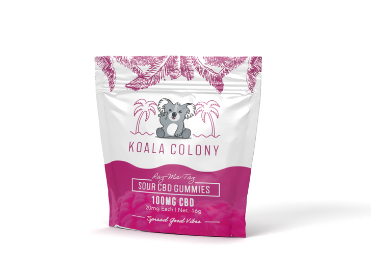 100mg Sour CBD Gummy Bear – Raz-Ma-Taz