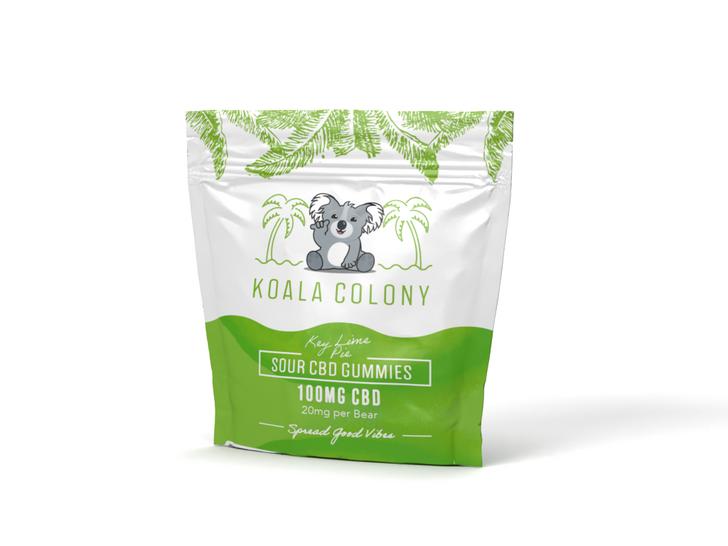 100mg Sour CBD Gummy Bears – Key Lime Pie