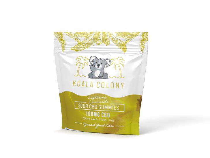 100mg Sour CBD Gummy Bears – Lightning Lemonade