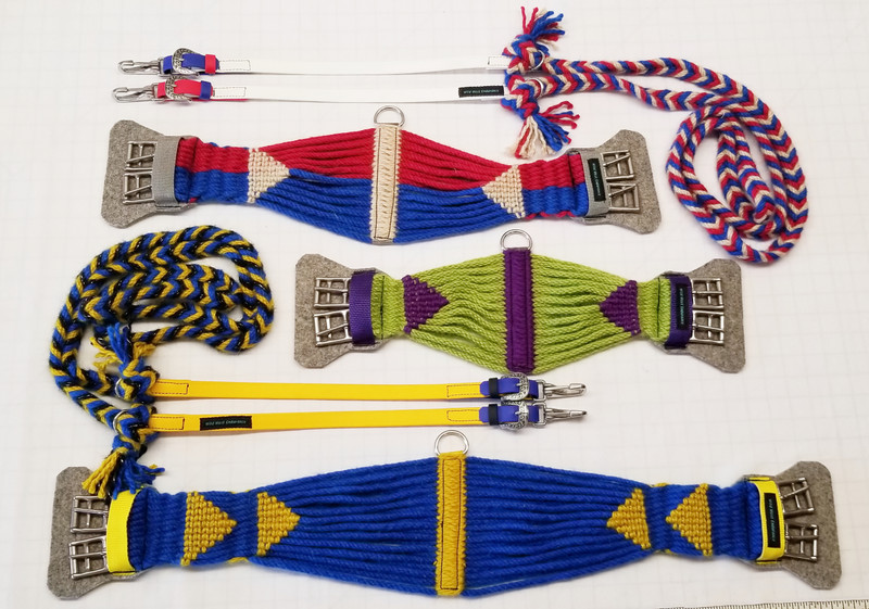 Reins with Tassel ends and Mohair girths