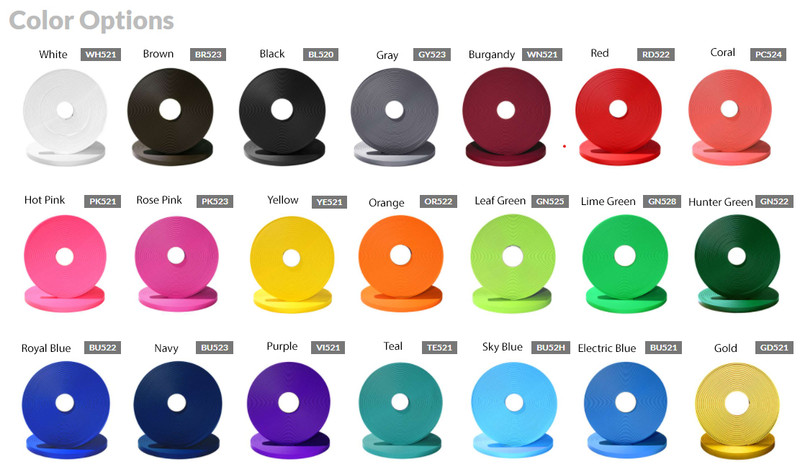 Beta Biothane colors