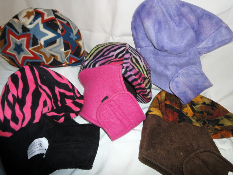 Examples of helmet covers. Many more colors available
