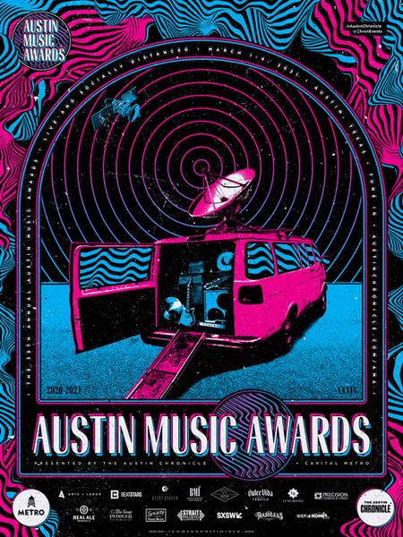 Austin Music Awards 2021 Poster