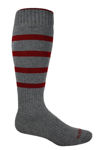 Our Warm Classic Lines  Winter Performance Socks in Charcoal & Red.