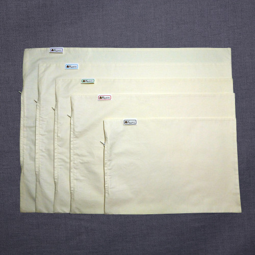 All 5 sizes of the zippered pillow cases