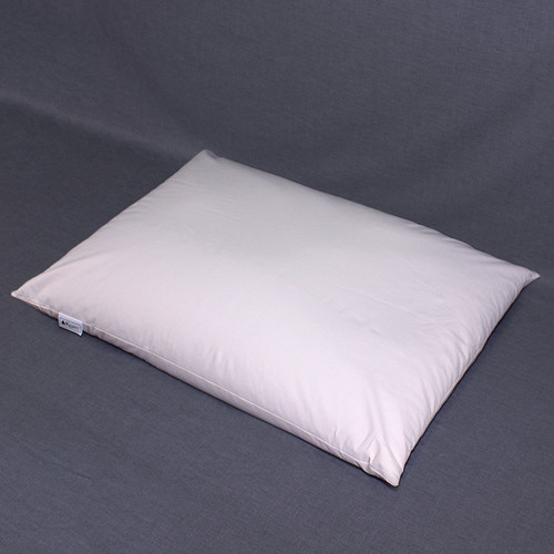 The 18 x 24 buckwheat hull pillow is slightly smaller than the standard North American pillow size. The recommended fill amount is 8 to 9 pounds ofhulls.