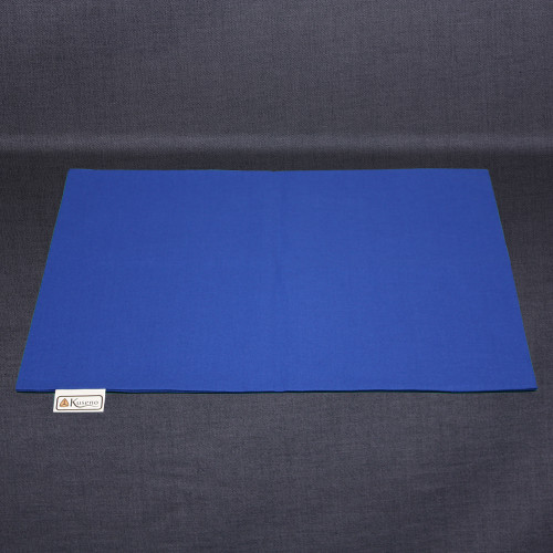 Empty Royal Blue cotton pillow case. Sized slightly larger than the 16 x 11 pillow to make putting the pillow inside easier.