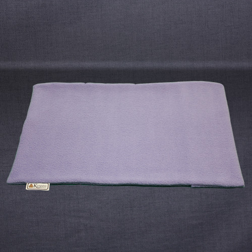 Empty lavender Travel Pillow Fleece Cover. Sized slightly larger than 11 x 16 to make putting the travel pillow in easier.