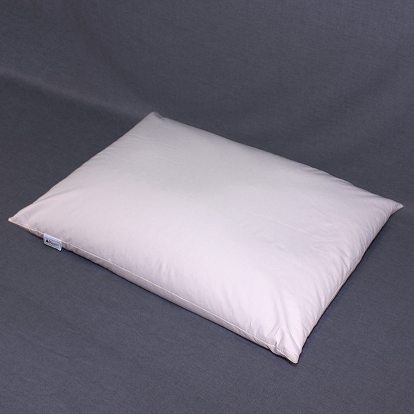 The 18 x 24 buckwheat hull pillow is slightly smaller than the standard North American pillow size. The recommended fill amount is 8 to 9 pounds of hulls.