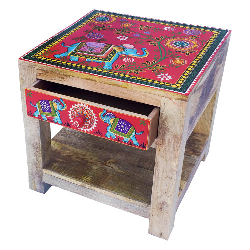 Bedside or Lamp Table Elephant Design