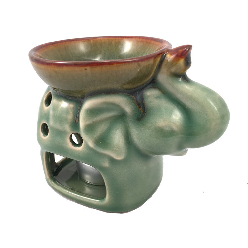 Elephant Oil Burner Sage Green