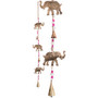 String of 3 Elephants with Beads and Bells