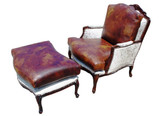 Bergere Chair and Ottoman