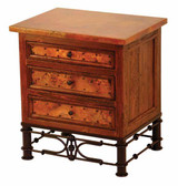 Old Tuscon 3 Drawer Nightstand