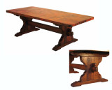 Jerome Trestle Base Copper Dining Table