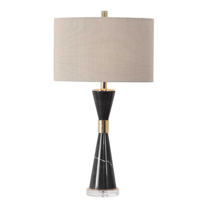 High Time Black Marble Table Lamp