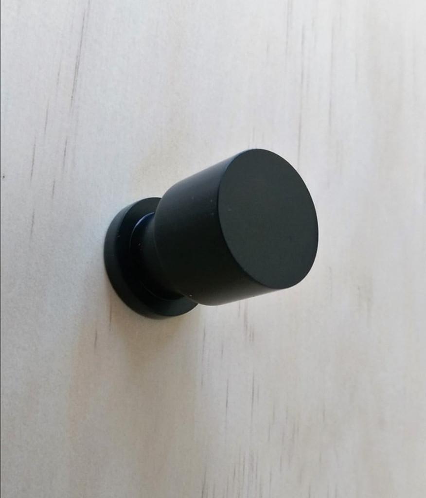 Matte black cupboard finger pull knob tall timber