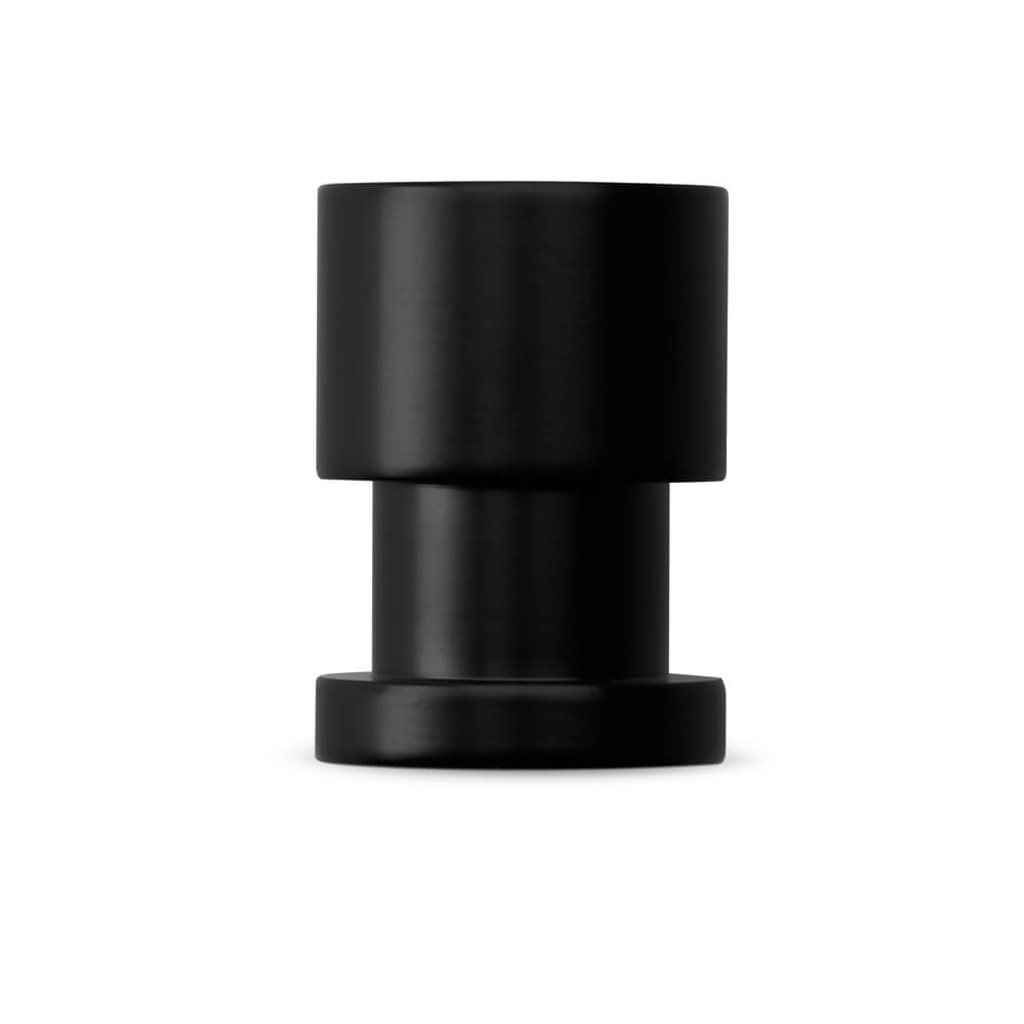 Matte black cupboard finger pull knob tall side