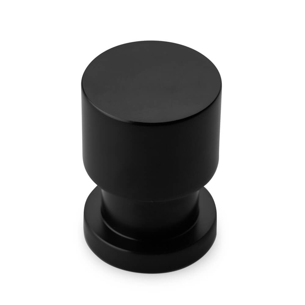 Matte black cupboard finger pull knob tall