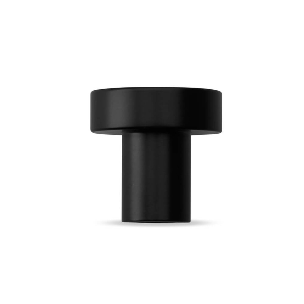 Matte black cupboard finger pull knob side