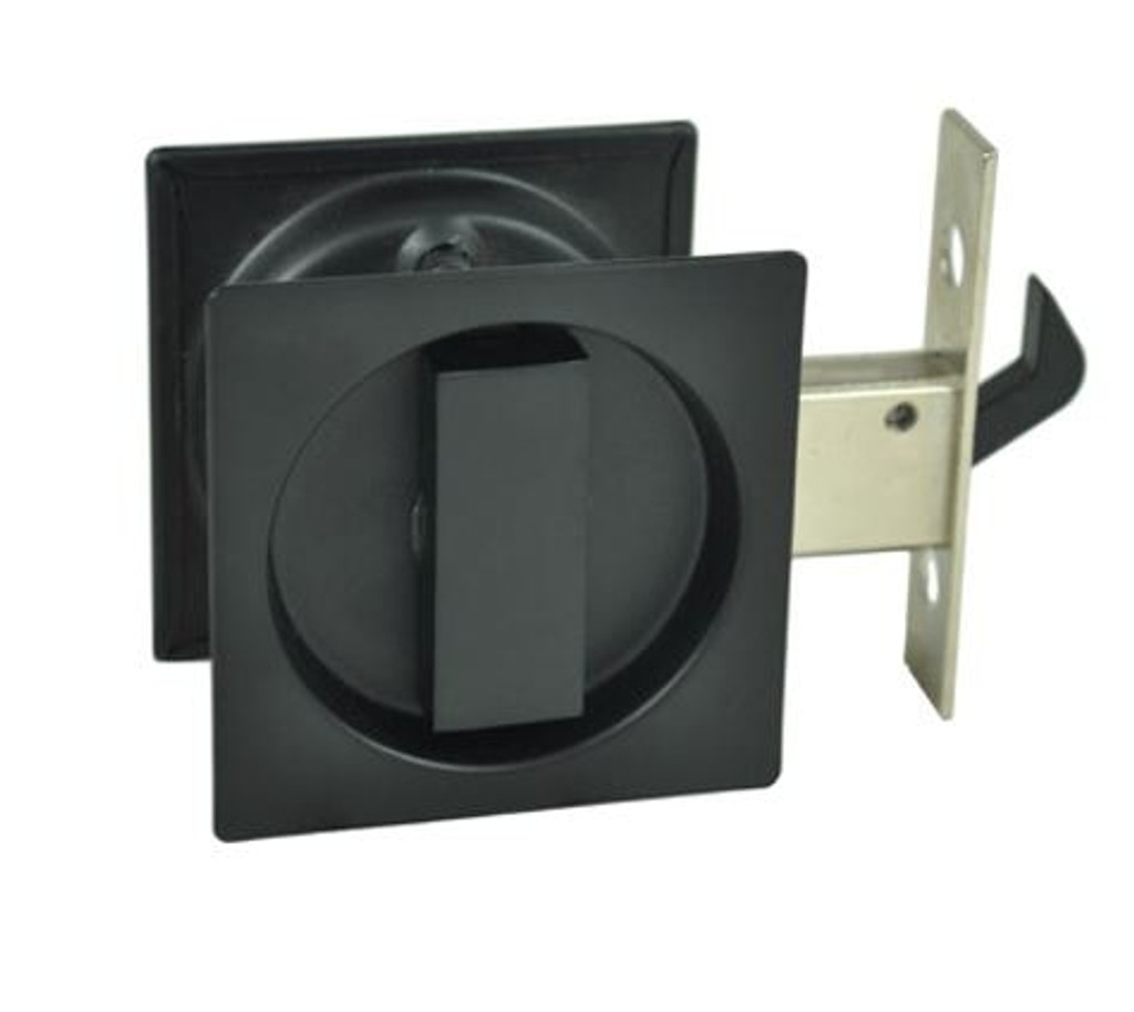 black sliding door lock sqaure