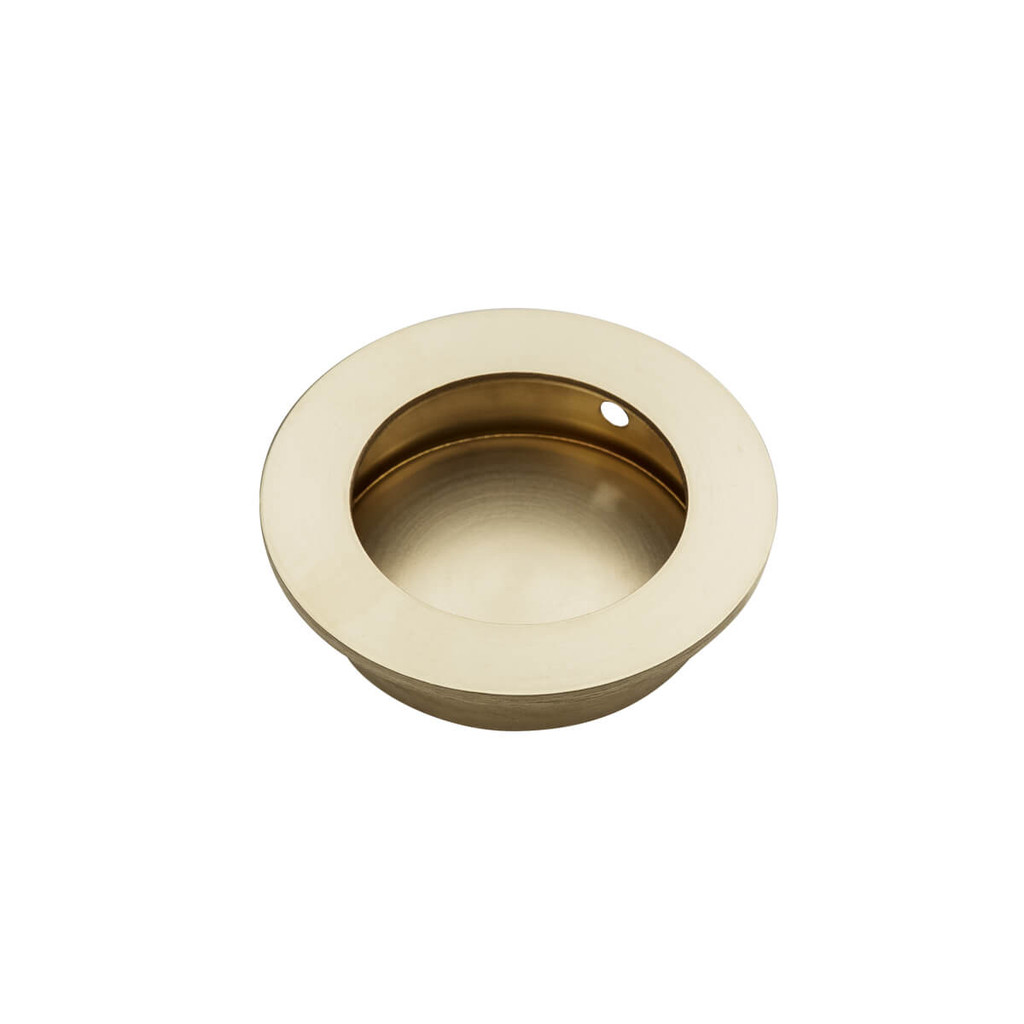 Brass Flush Pull Round Handle 50mm Open Design Hardware Box
