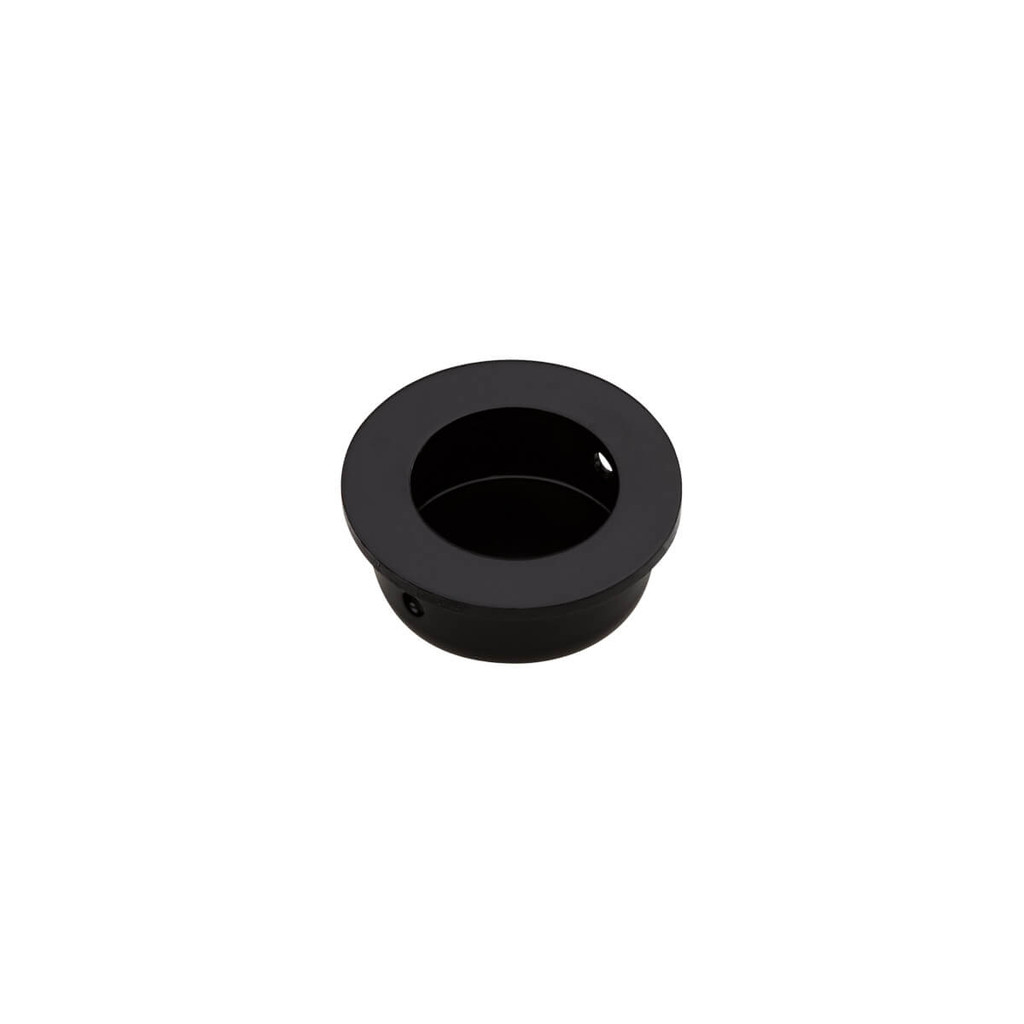 Matte Black FLUSH PULL Round Handle 30mm Open Design