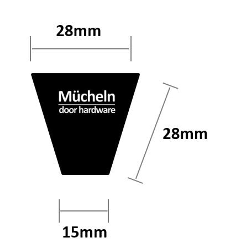 black door knob cupboard dimensions