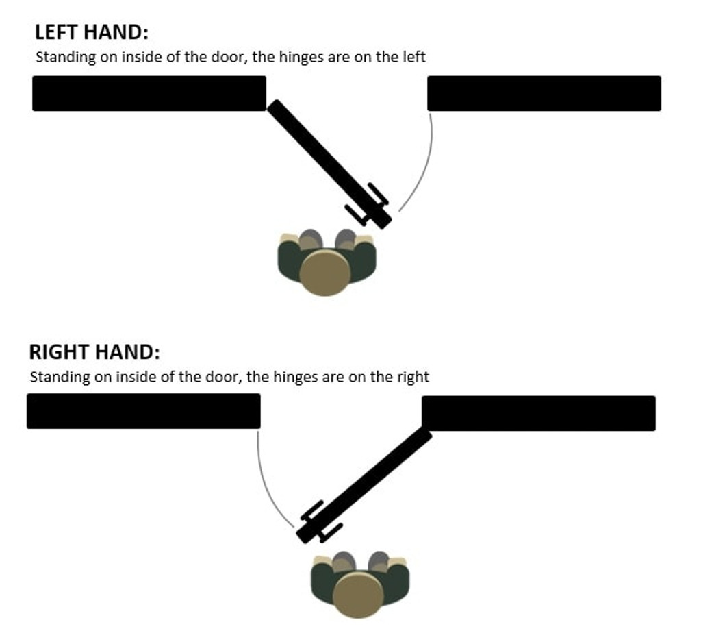 Nidus Black OZI 1 entrance handle diagram