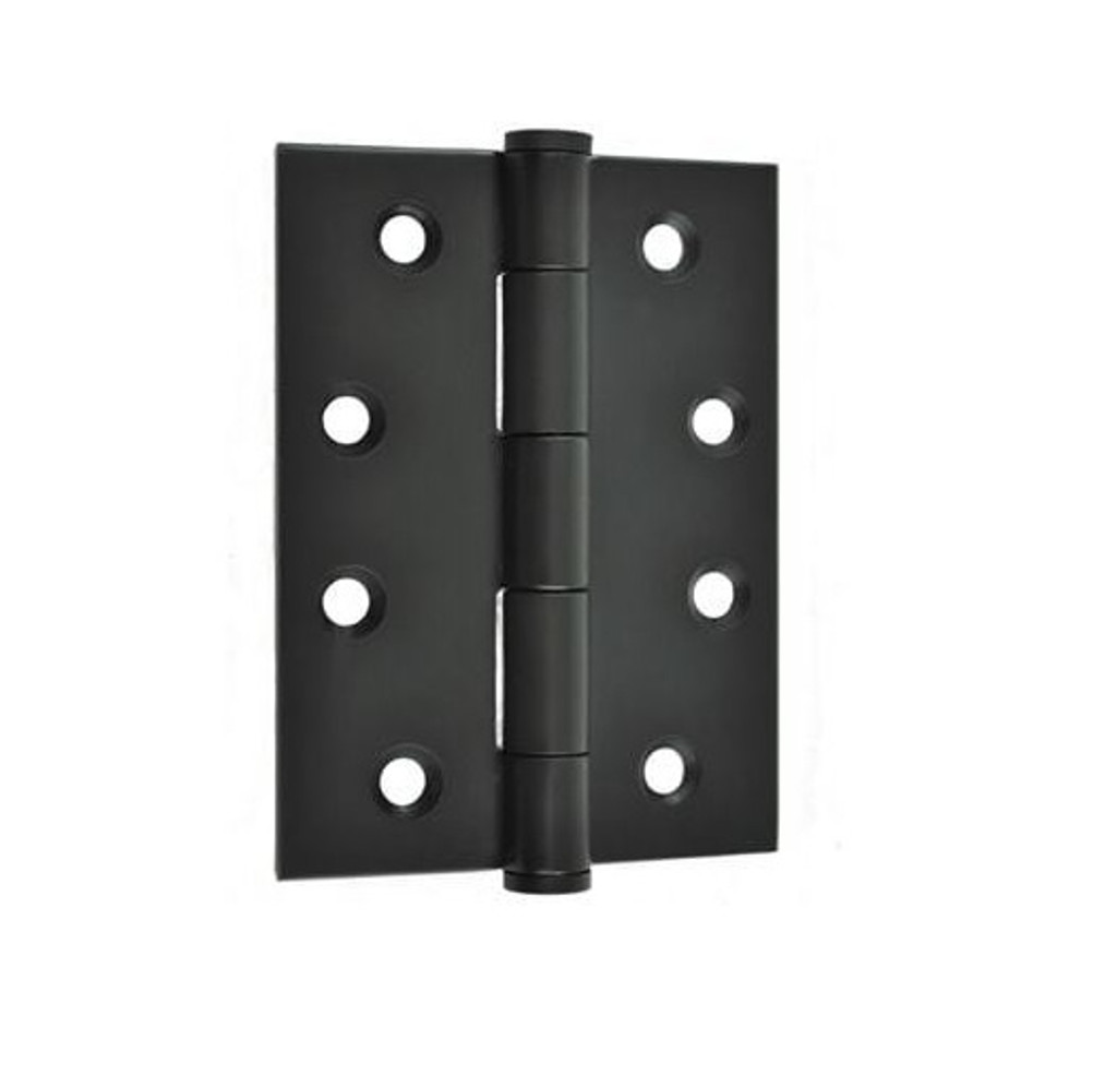Black Door Hinge 85 x 60mm (2 Hinges) Loose Pin