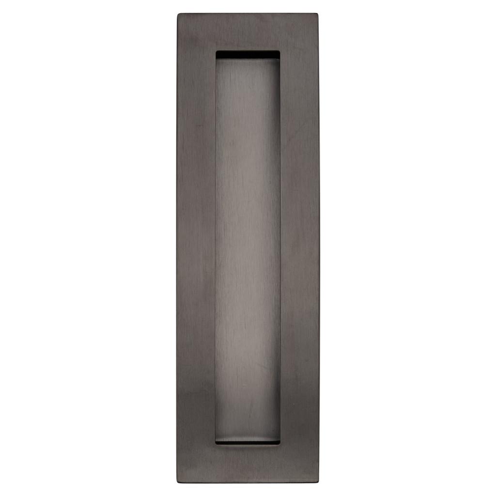 Gunmetal 200mm flush door handle top