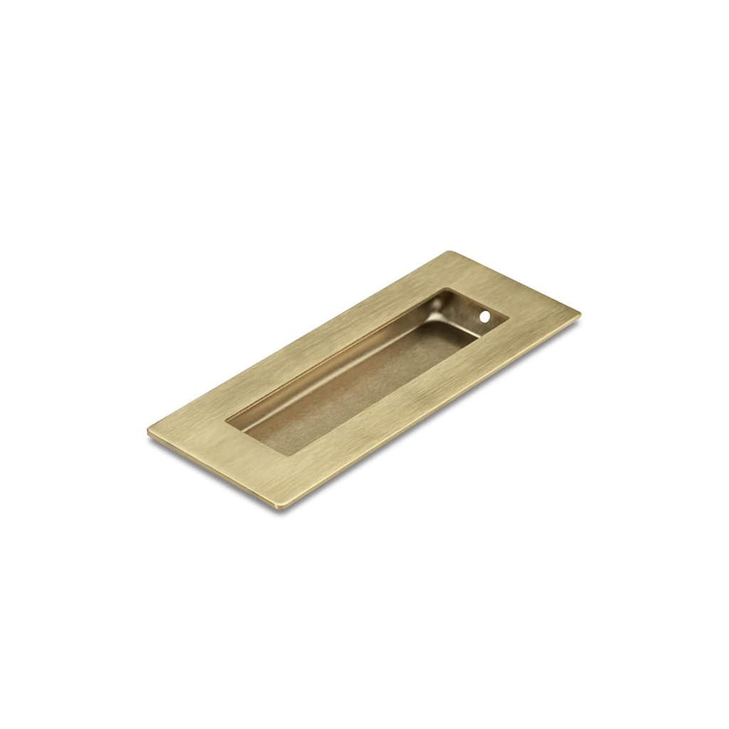 Brass Flush Pull Handle 120mm Rectangle