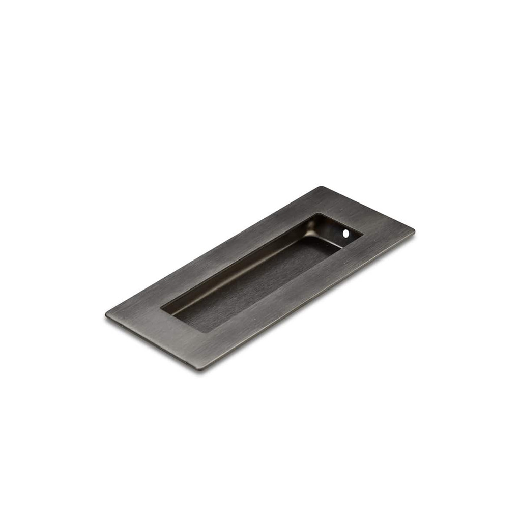 Gunmetal Flush Pull Handle 120mm Rectangle