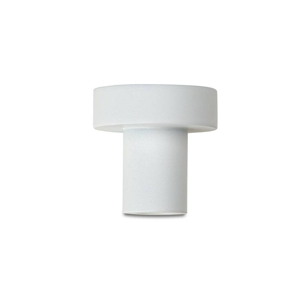 white 25mm pull knob side