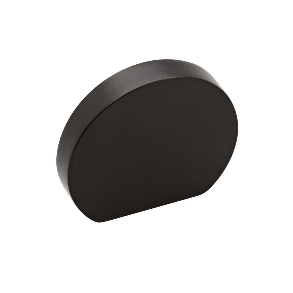 black  curve cupboard knob 35