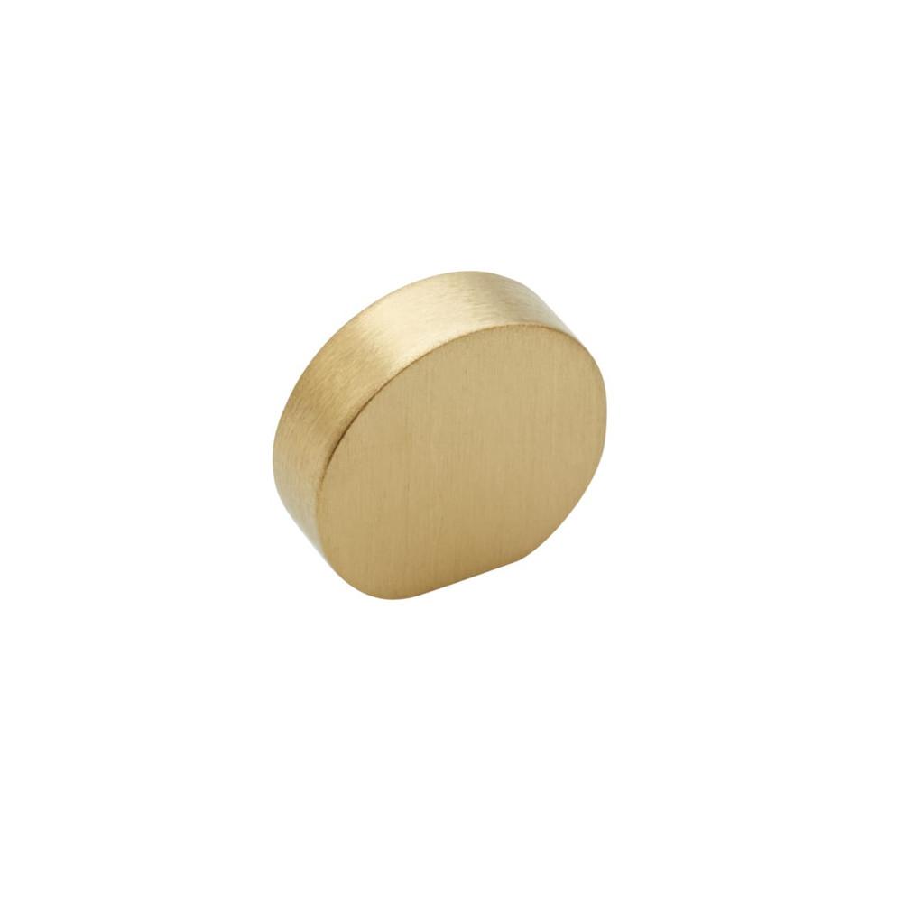 brass  curve cupboard knob 25