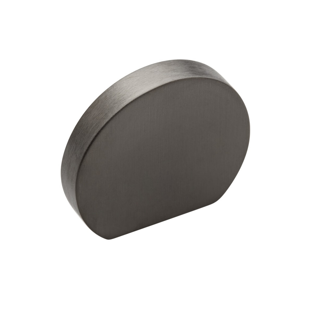 gunmetal  grey curve cupboard knob