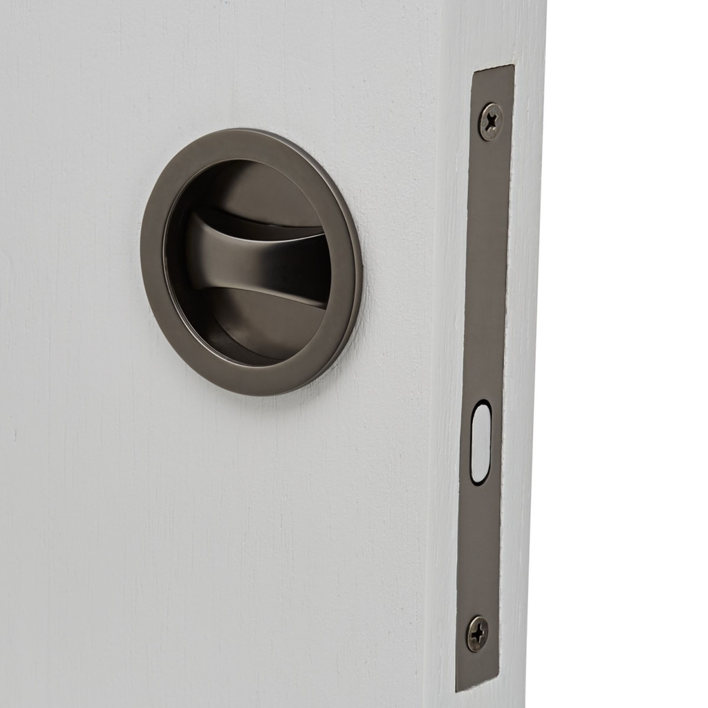 gunmetal grey cavity sliding door lock