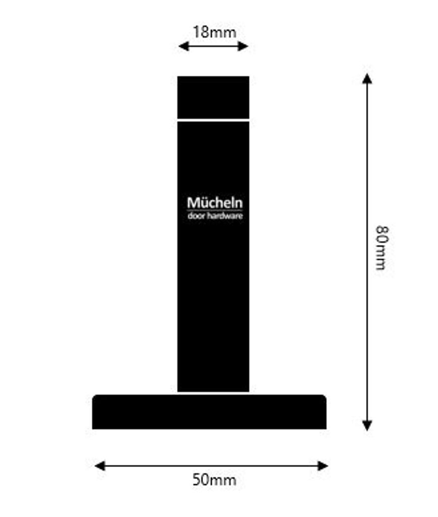 door stop round dimensions mucheln