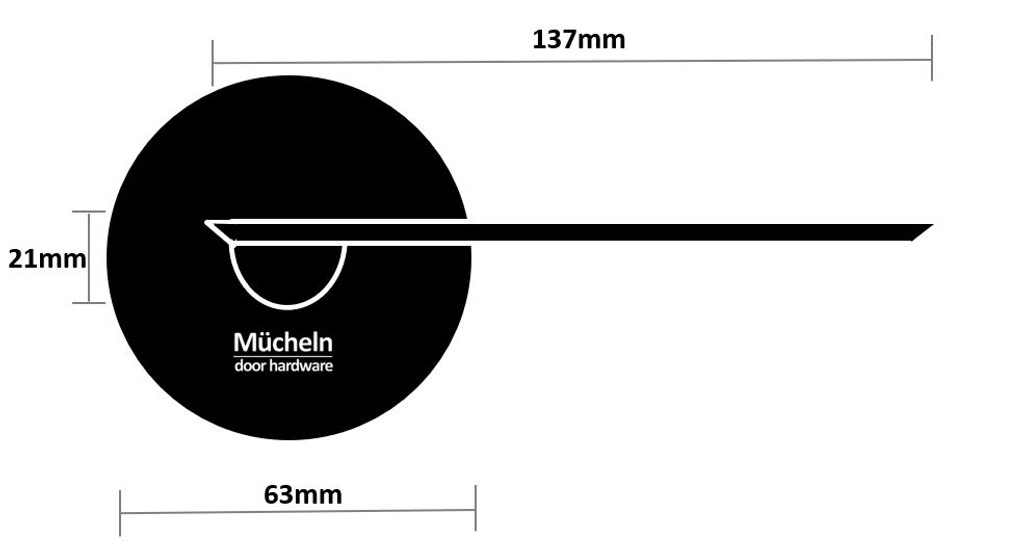 Black 63mm Dummy Handle Mucheln dimensions