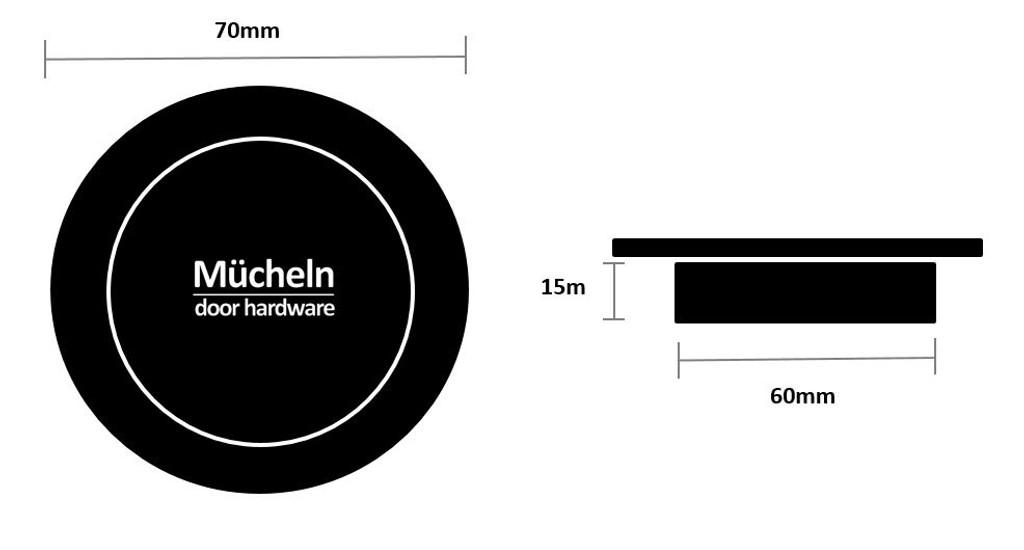 brass flush handle 70mm dimensions