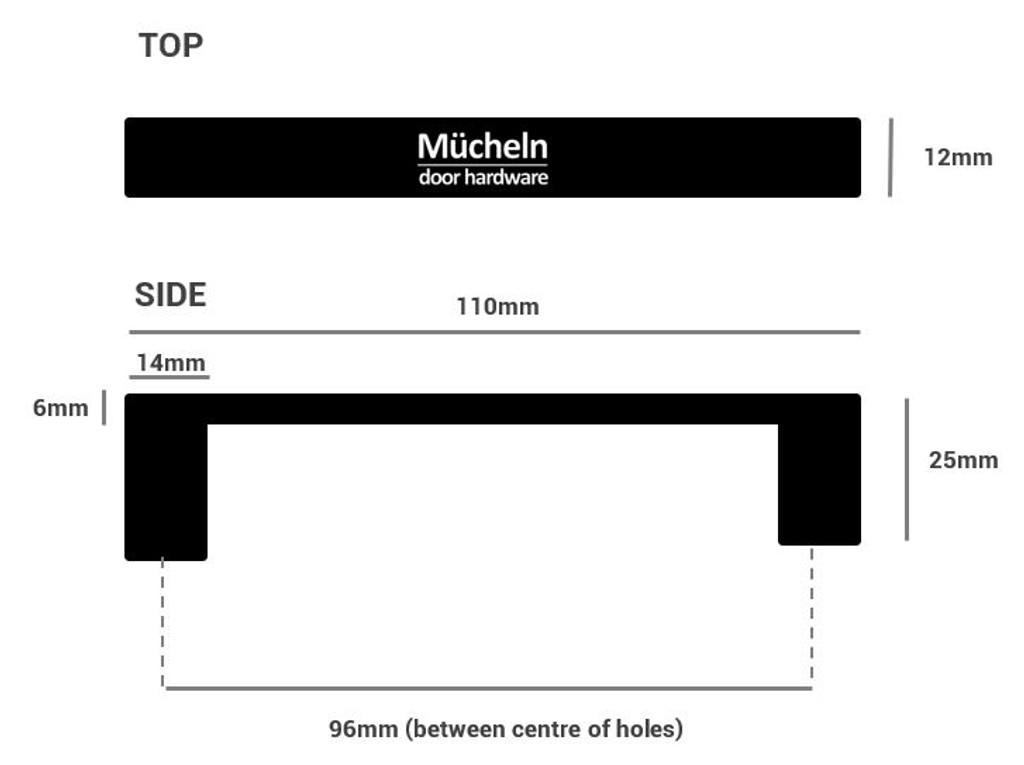 satin nickel cupboard pull handle dimensions