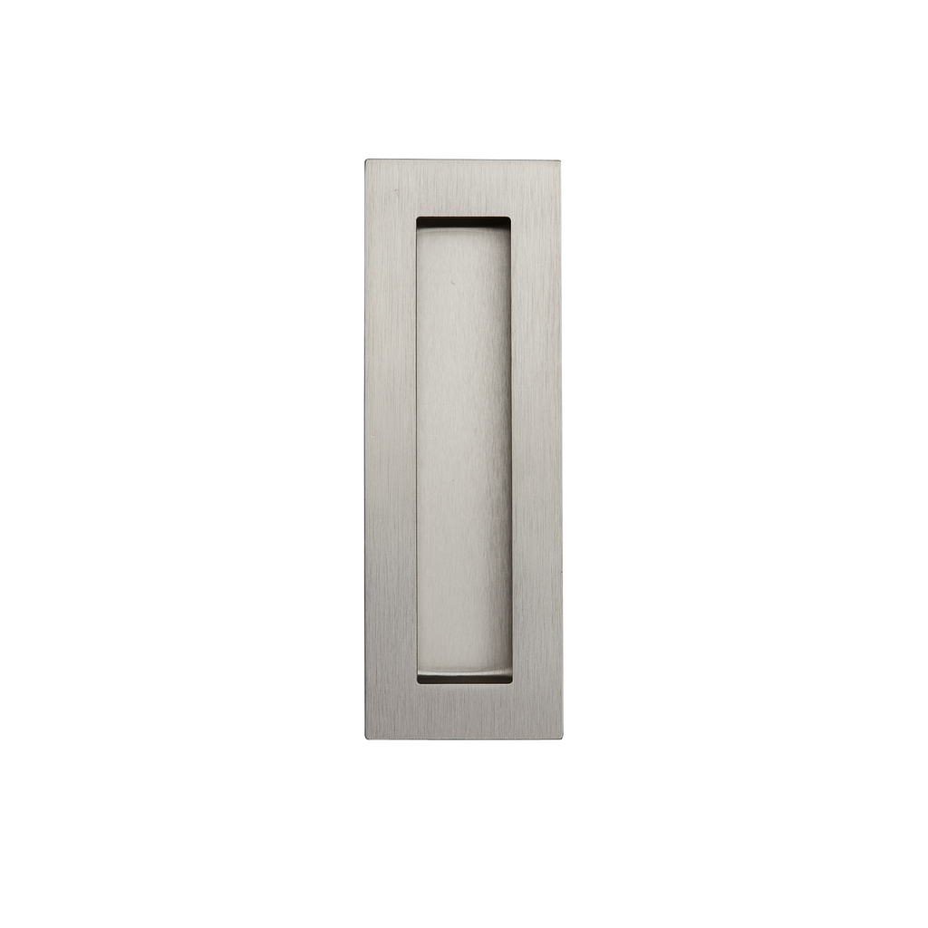 Satin Nickel Flush Pull Handle 150mm Rectangle