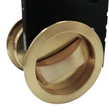brass cavity sliding lock close up