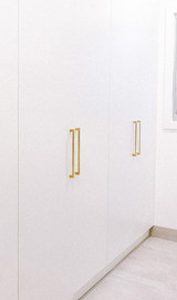 280mm brass brushed wardrobe handles