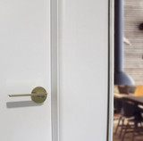 satin brass dummy door handle