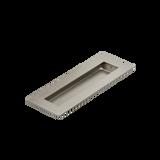 Satin Nickel Flush Pull Handle 150mm Rectangle side